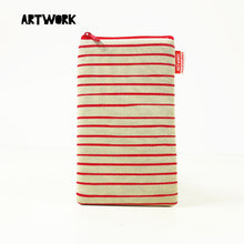 Load image into Gallery viewer, Stripe Red Gadget Pouch