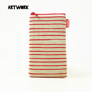 Stripe Red Gadget Pouch