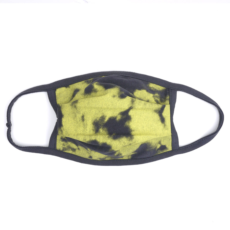 Tdye Charcoal Yellow Washable Face Mask