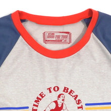 Load image into Gallery viewer, Time To Beast Girls Raglan Tee