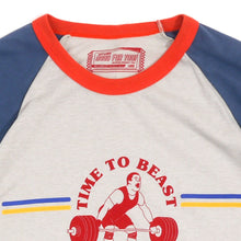 Load image into Gallery viewer, Time To Beast Guys Raglan Tee