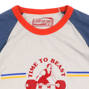 Time To Beast Guys Raglan Tee