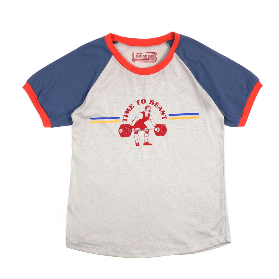 Time To Beast Girls Raglan Tee