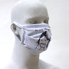 Load image into Gallery viewer, Wednesday Gray Washable Face Mask