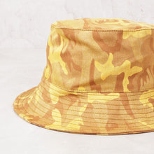 Load image into Gallery viewer, Yellow Camo Bucket Hat