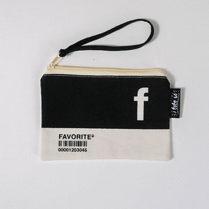 F Alphabet Tote Bag and Pouch Set