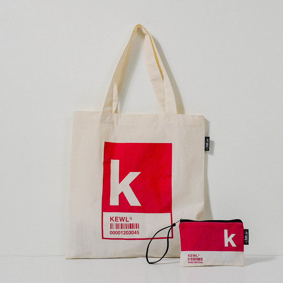 K Alphabet Tote Bag and Pouch