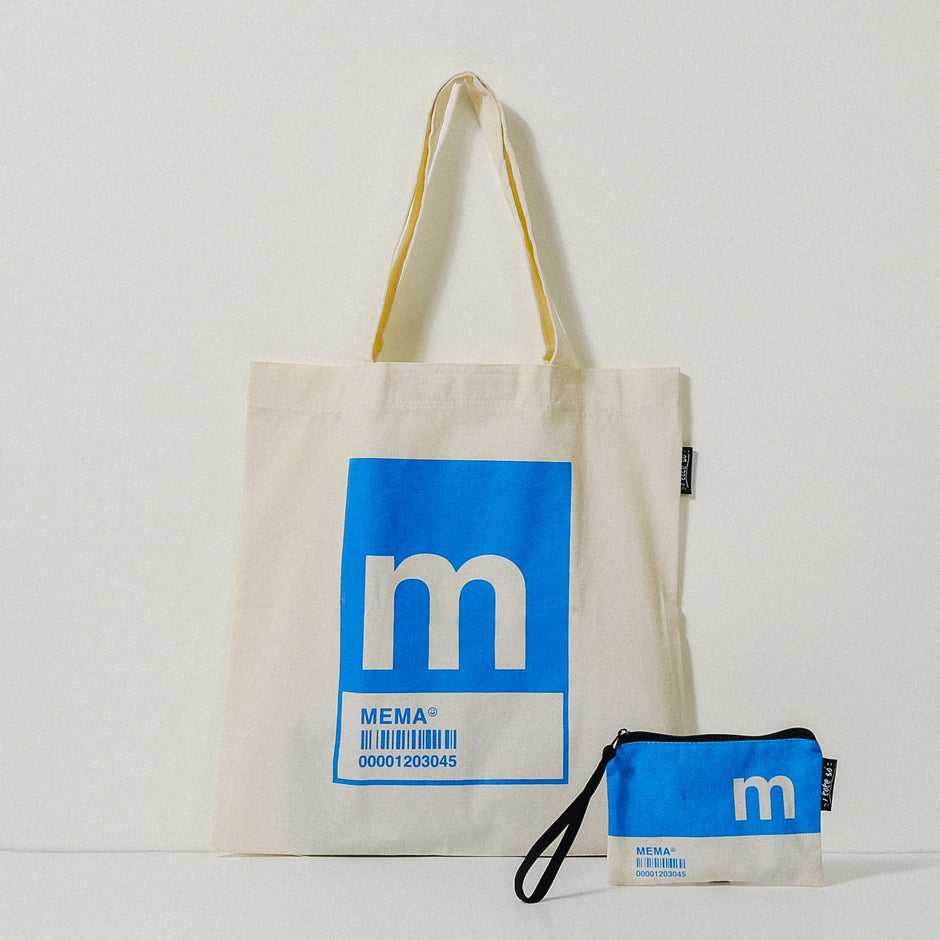 M Alphabet Tote Bag and Pouch Set