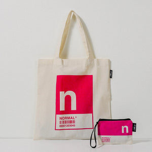N Alphabet Tote Bag and Pouch Set