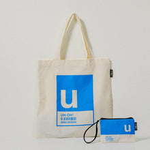 Load image into Gallery viewer, U Alphabet Tote Bag and Pouch Set