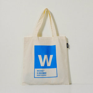 W Alphabet Tote Bag and Pouch Set