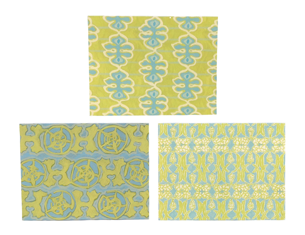Green Set Folded Cards