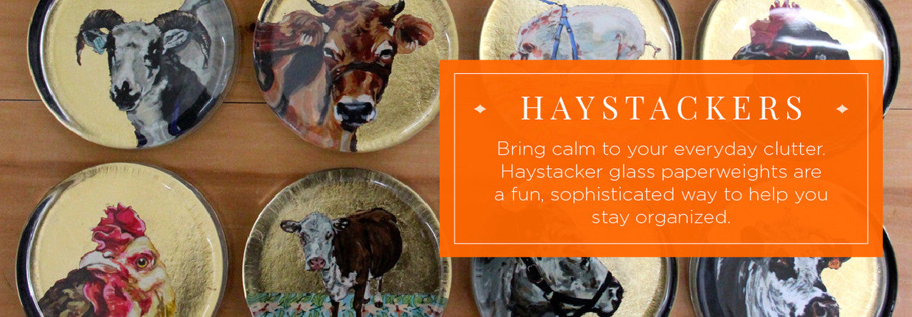 Haystacker Glass Paperweights