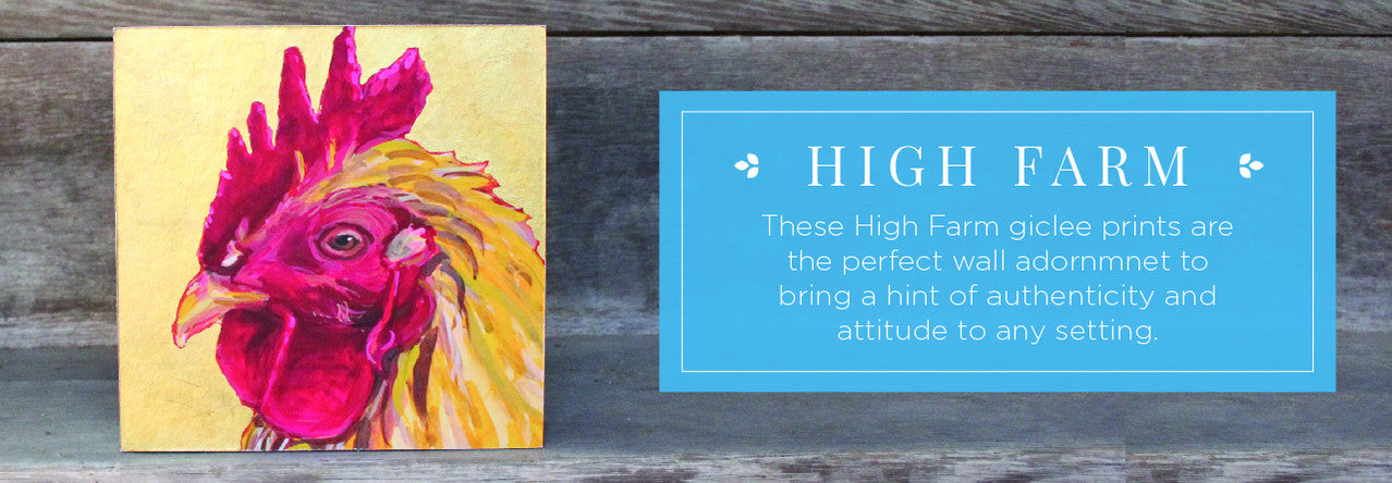 High Farm Giclee Animal Prints