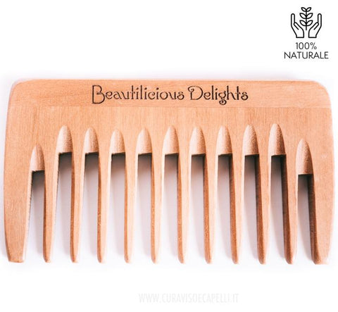 "Image of Pettine Capelli ""Coccola"" in Legno di Pero a denti larghi - Beautilicious Delights"