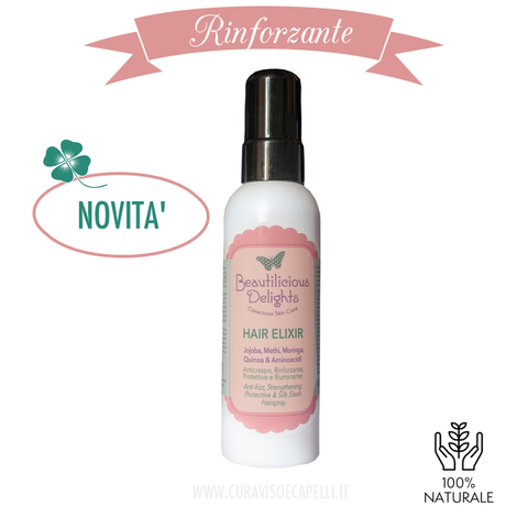 Image of Spray Protettivo Rinforzante Capelli Fragili e Secchi - Hair Elixir - Beautilicious Delights
