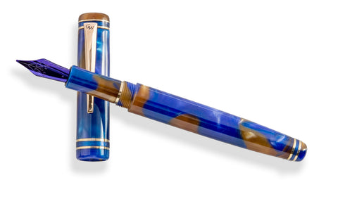 GW Alpha Fountain Pen in Crushed Blue Velvet