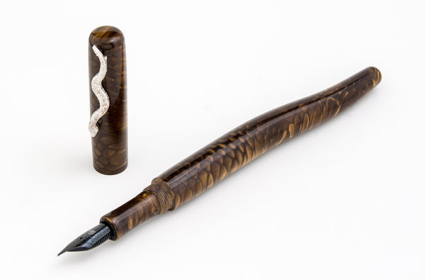 The Serpent Fountain Pen Golden Bronze