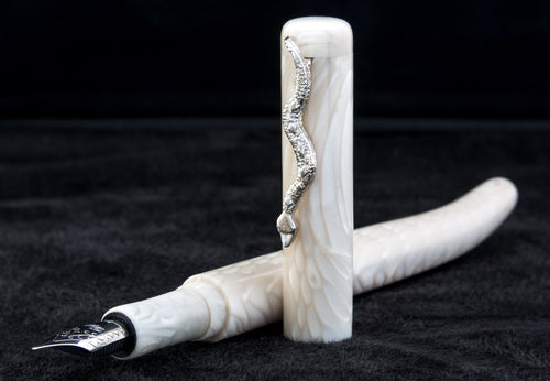 The Serpent Fountain Pen Ivory White