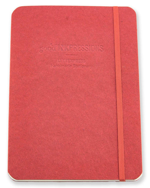 A5 Tomoe River Notebook Journal - Red