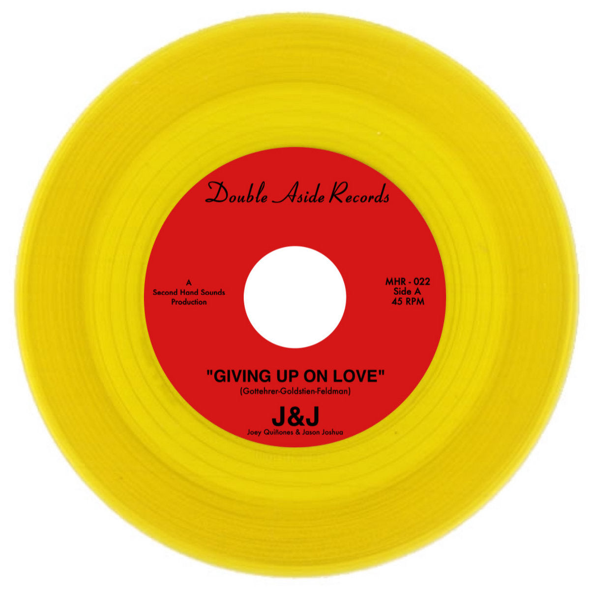 J&J - Giving Up On Love / The Town I Live In (Elusive Yellow Color Variant)