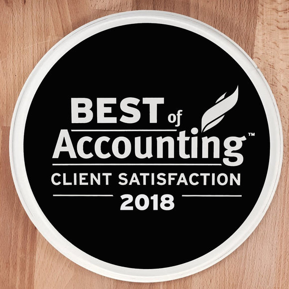 2018 Best of Accounting Award | Office Wall Mount