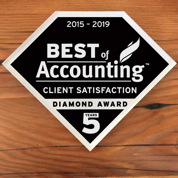 2019 Accounting Client Diamond Award | Office Wall Mount
