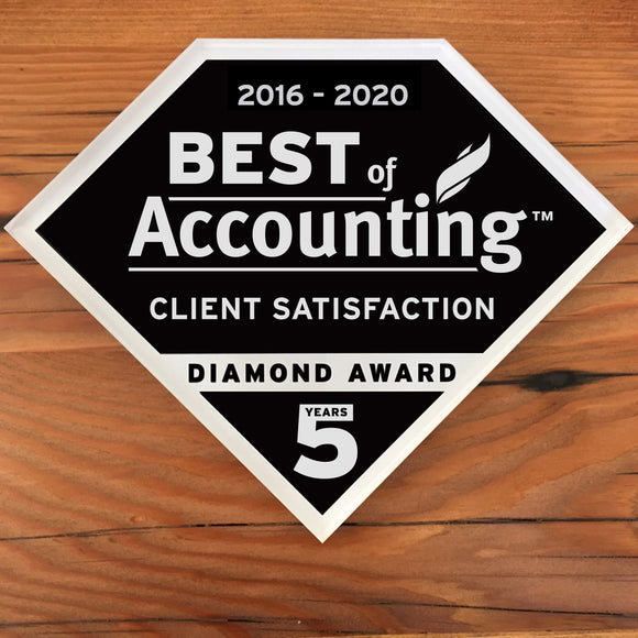 2020 Accounting Client Diamond Award | Office Wall Mount