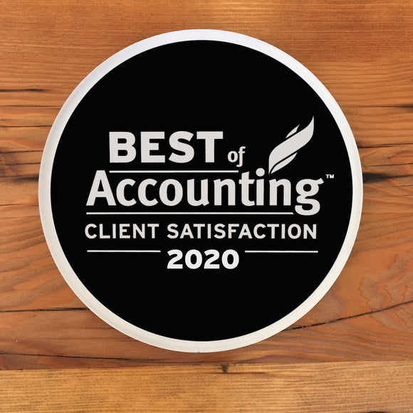 2020 Accounting Client Award | Office Wall Mount