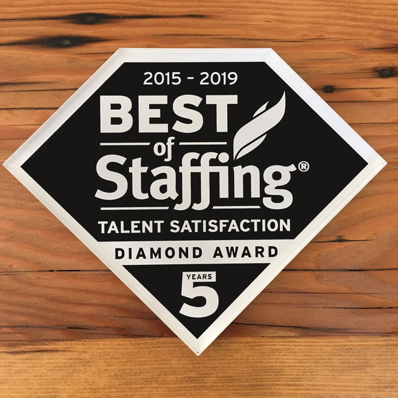 2019 Staffing Talent Diamond Award | Office Wall Mount