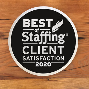 2020 Staffing Client Award | Office Wall Mount