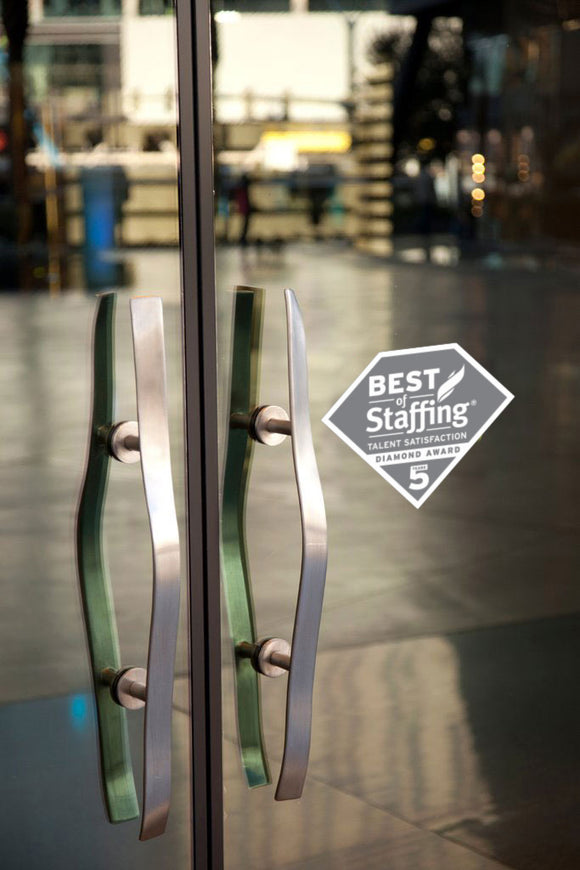 2019 Staffing Talent Diamond Award | Window Cling