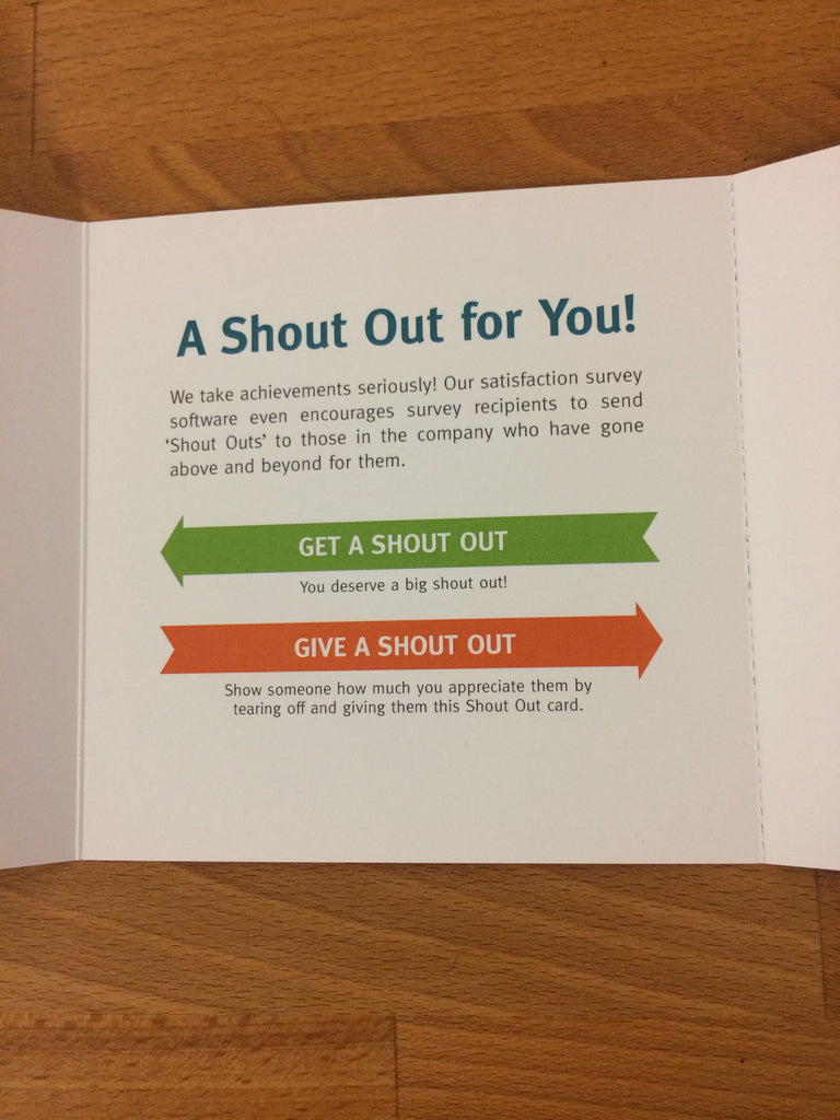 shout outs employee recognition cards envelopes 20 pack