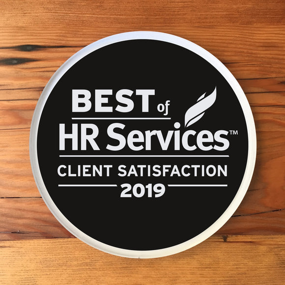 2019 HR Services Client Award | Office Wall Mount