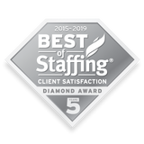 2019 Staffing Client Diamond Award | Window Cling