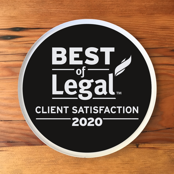 2020 Legal Client Award | Office Wall Mount