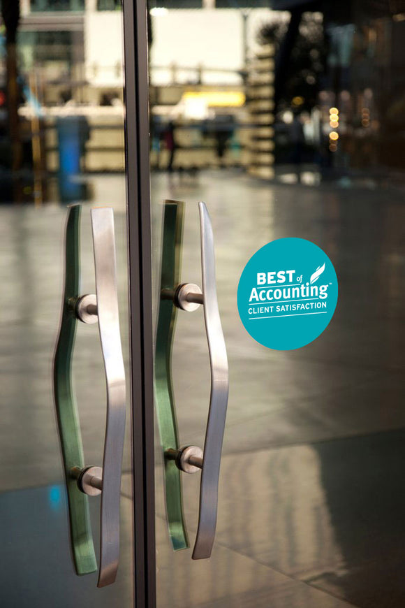 2018 Best of Accounting Award | Window Cling