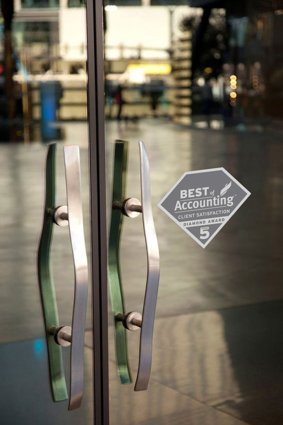 2019 Accounting Client Diamond Award | Window Cling