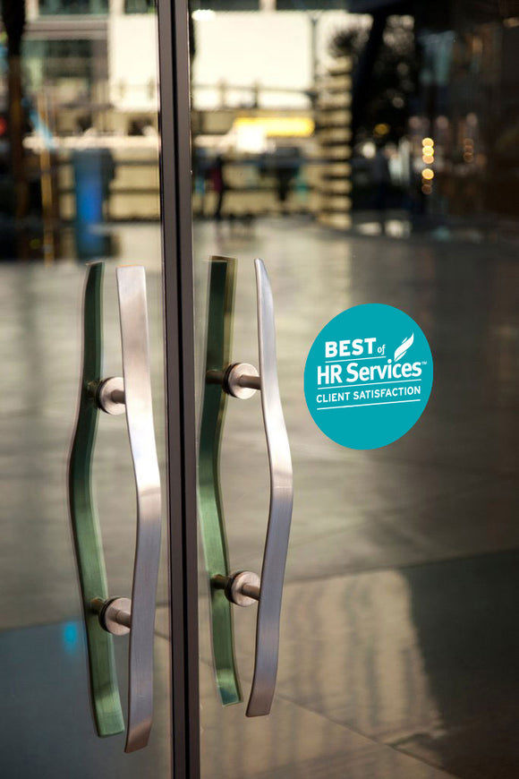 2019 HR Services Client Award | Window Cling
