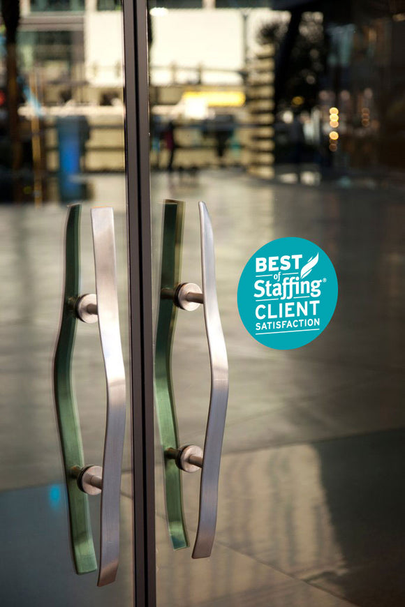 2020 Staffing Client Award | Window Cling
