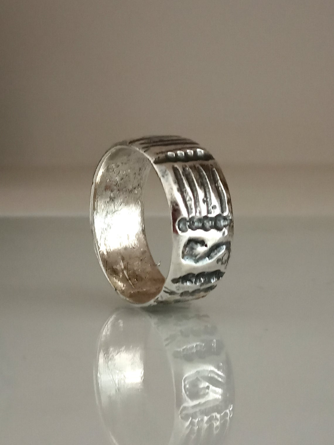 Sterling Band Ring,Wide Band,Wide Silver Ring,Sterling Silver Ring,Hammered Band,Textured Hammered,Bohemian Silver,For Him