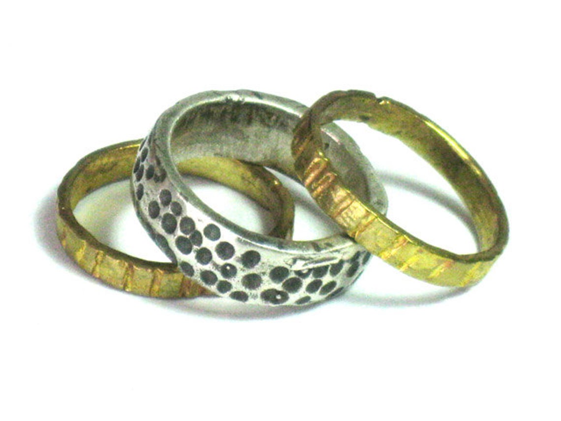 Silver Gold filled Ring Stacking Collection