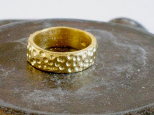 Textured 14K Solid Gold Wedding Band.
