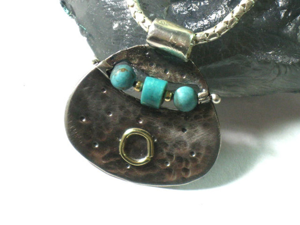 Silver Turquoise Chain Pendant Necklace