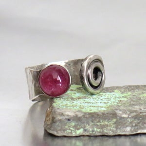 Silver Tourmaline Open Ring