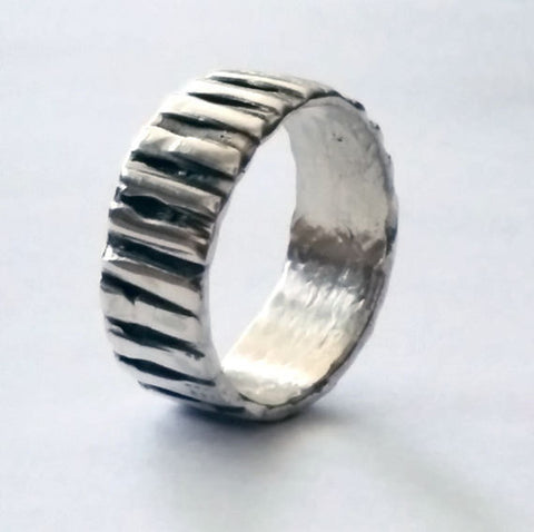 Unique Artisan Silver Ring Band
