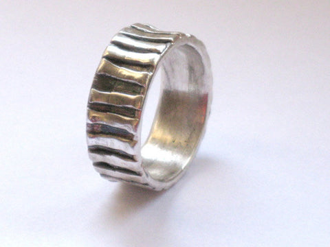 Alternative Wedding Ring Sterling Silver