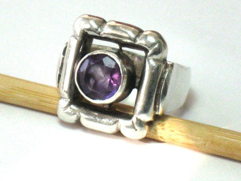 Amethyst Ring, Amethyst Silver Ring, Sterling Amethyst ring, Size 5 6 7 8, Size 9 10 11, Ring Gemstone, Purple Gemstone, Unique Purple Ring