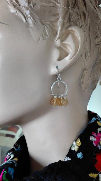 Sterling Silver Citrine Dangle Earring