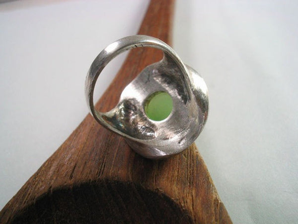 Oval Sterling Silver Stone Ring